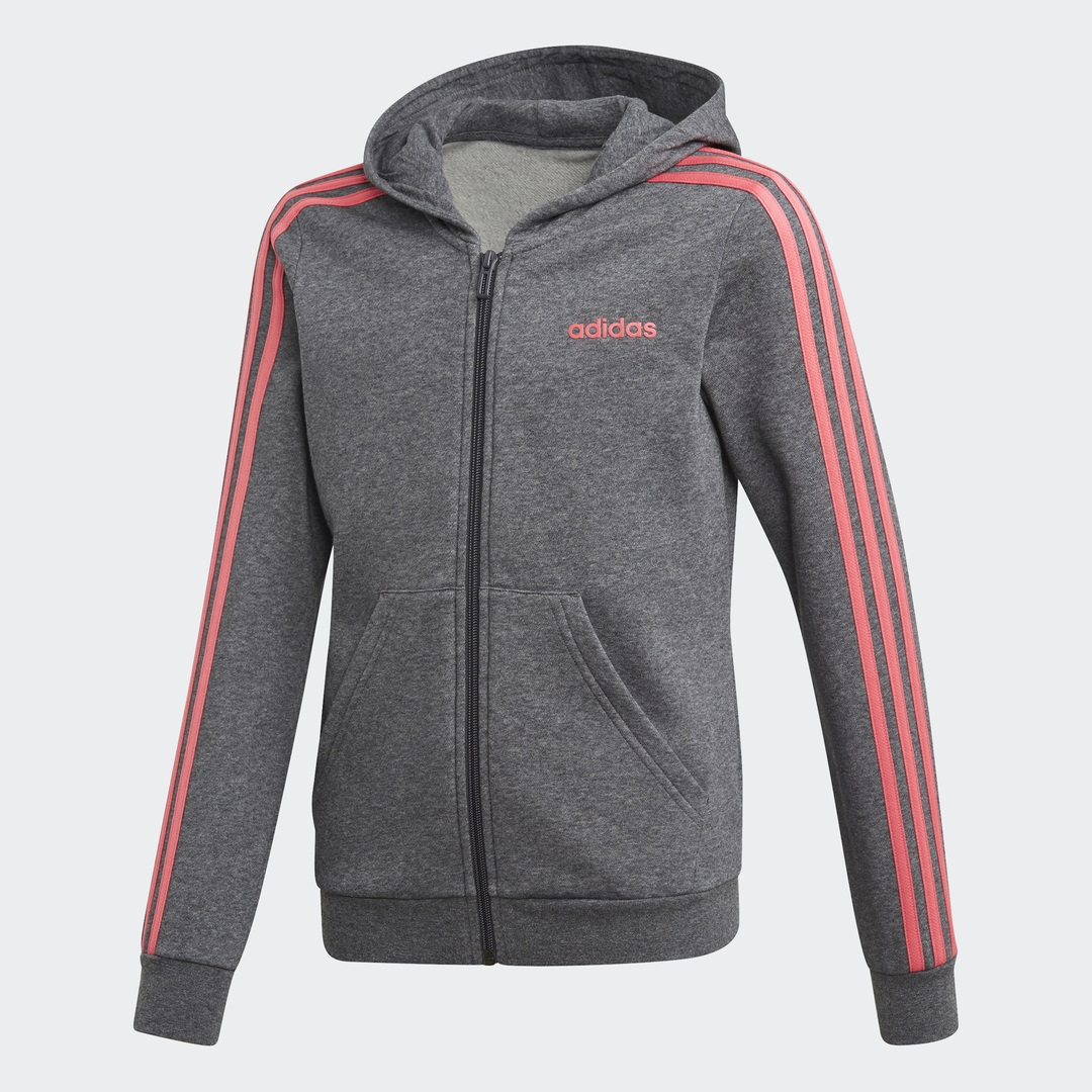 adidas Core Essentials 3S Full Zip Hoodie Youth Girls (FH6613)