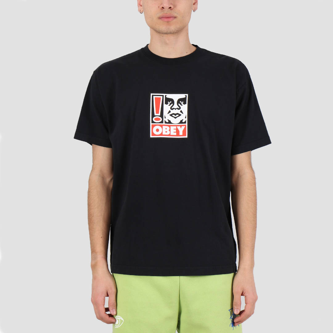 OBEY Exclamation Point Heavyweight Classic Box Men's Tee